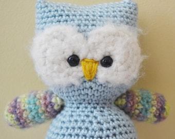 Otis the Owl Crochet Amigurumi Plush Plushie Stuffed Animal Toy Softie READY TO SHIP