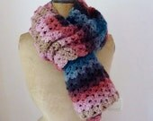 Reserved Crochet lace scarf crochet scarf striped shawl