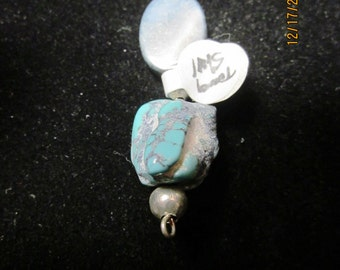 Dodad Pendant Turquoise Shell silver 28ct