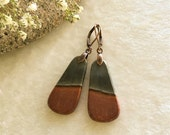 Earrings Succor Creek jasper , gemstone jewelry , rustic earthy natural casual