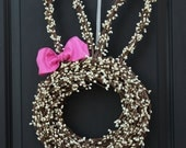 Bunny Wreath - Easter Wreath - Choose Bow - Easter Decoration-