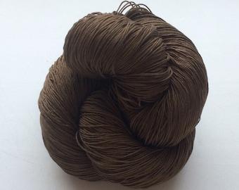 Dark chocolate -  Cotton 100% (2ply ,) handdyed yarn 100g