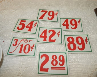 Vintage General Store Grocery Store  Price Tags  General Store Advertising Repurpose