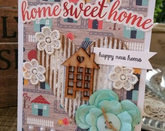 Handmade card.. Home sweet home