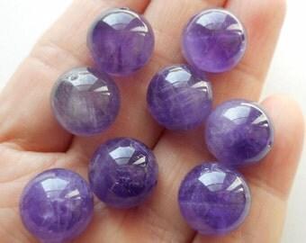 8pcs-12mmX12mm-Natural Untreated Amethyst gemstone loose beads,bracelet beads