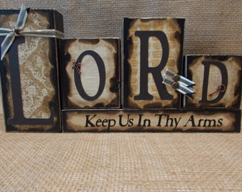 LORD Word Block Sign