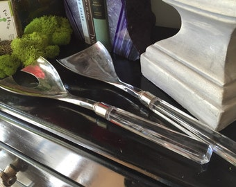 Salad Tongs. Servers. Lucite appearance. Chic Kitchen