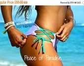 30% Off Sale KULA : REVERSIBLE Lace Up Bikini Bottoms 2 Suits in 1 Custom Made by Peace of Paradise Creations