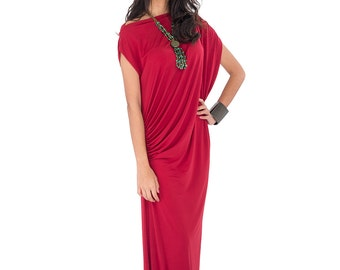 Red Dress - Trendy Red Maxi Dress : Funky Elegant Collection No.9s