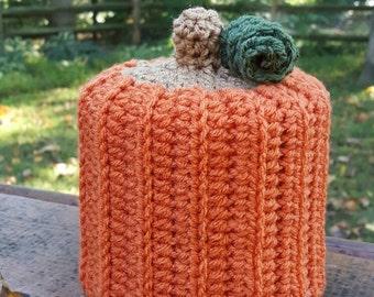 Pumpkin Home Decor - Tissue Paper Toilet Paper Cover - Acorn, Apple, Candy Corn, Squash - Handmade Crochet - Seasonal Autumn Fall Home Decor