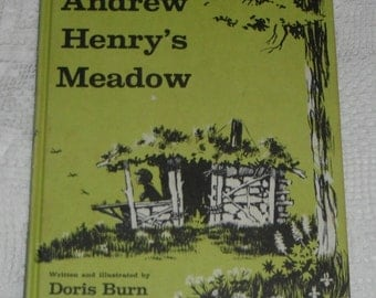 Andrew Henry's Meadow written and illustrated by Doris Burn Hardcover Vintage Book