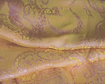 "Gypsy Bedspread or Coverlet, Italian Silk Blend, Sunset Colors, 78""w. x 88""l."