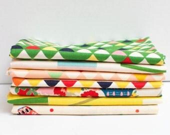 Hyakka Ryoran Toys Fabric Bundle - Half Yard Bundle - 7 half yard pieces (B358)