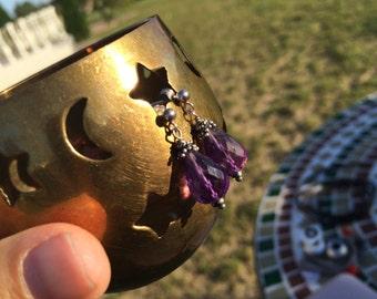 Sterling Silver Amethyst Briolette Fairy Earrings