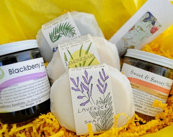 Gift Box - Medium - 5 items - Soap - Jam - Mustard
