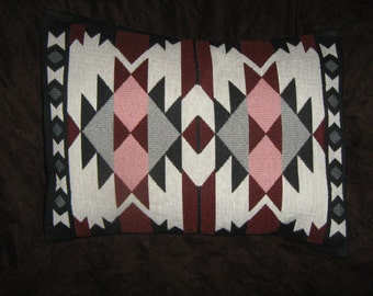AZTEC SOUTHWEST TAPESTRY Accent Travel Pillow Cover