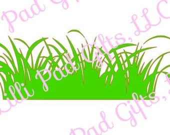 Grass Cut File - Instant Download - SVG and DXF for Cameo Silhouette Studio Software & other Cutter Machines