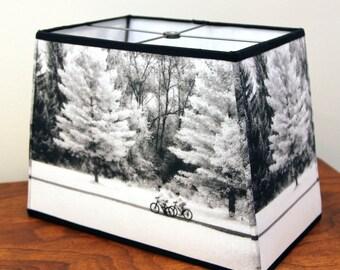 black and white lamp shade fabric shade rectangle lamp shade for floor lamp - Rectangular Lamp Shades