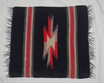 Vintage Chimayo Mini Rug Runner Native American Hand Woven Tapestry
