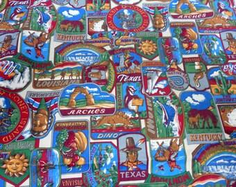 Cranston Cotton Print Fabric, United States Cotton Print Fabric, Camper  Curtains/Pillows,