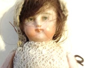Antique German Bisque Doll 3 Inches