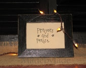 "Prayers and Praise 5"" x 7"" unframed hand stitchery"