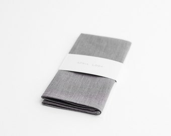 Grey pocket square, wedding handkerchief - MADE TO ORDER