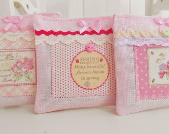 Set Of 3 Garden Themed Lavender Drawer Sachets