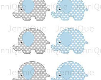 Baby shower elephant cutout etsy for Baby shower decoration cutouts