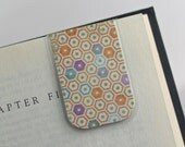 Laminated Magnetic Bookmark Hexagon Pattern Orange Purple Teal Gray Green Honeycomb Teacher Gift Christmas Valentines Student College