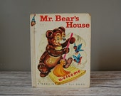 Mr. Bear's House Book, A Rand McNally Elf Book, Vintage Kids Books, Kitsch