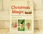 Vintage book Christmas Magic mid century design retro color photos 1964