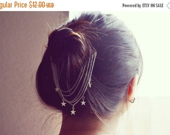 VALENTINES DAY SALE Dangling Star Hair Comb