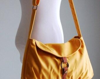 Back To School SALE - 30% Fortuner-S in Mustard /Shoulder Bag/ Messenger Bag / Handbag / Diaper Bag/ School Bag/ Women /For Her/ Gift/ Hobo