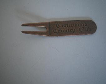 Vintage Castlewood Country Club Cleat Cleaner & Green Repair Metal Tool
