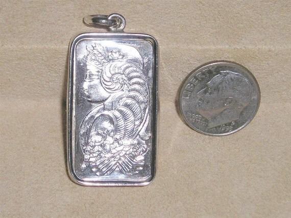 Vintage Half Ounce Fine Silver Pamp Suisse 999 0 Pendant