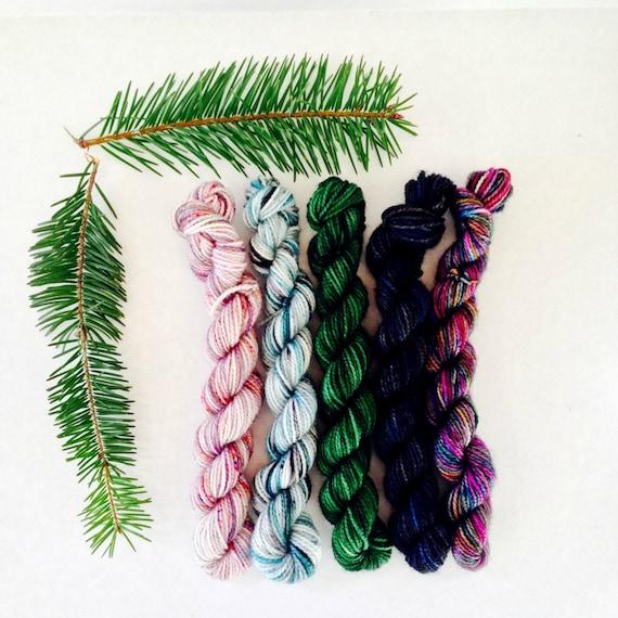 Classic Sock Yarn - Winter Mini Skein Set of 5 - In Stock