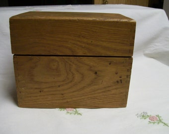 Wooden Recipe Box Vintage Filled with Vintage Recipes 1950s
