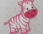Zebra (large) Tutu & Shirt Supplies - fabric iron on Applique Patch 7426