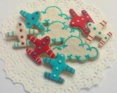 Mini Airplane and Cloud Sugar Cookies - 3 Dozen Mini Cookies