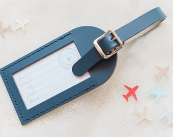 Bulk Listing - Navy Wedding Favors - Fly Away with Me Leather Luggage Tags