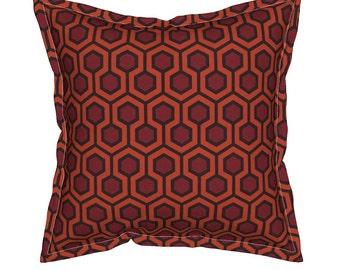 Shining Hallway Carpet Pillow, Halloween Pillow, Redrum Pillow, Hexagon Geometric Pillow, Halloween Stuff, Shining Carpet Throw Pillow,