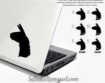 Llama Decal Vinyl Sticker - Silhouette My Pet Design:OA-LLM01