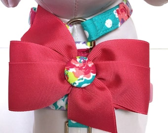 Dog Harness- The Teal Floral