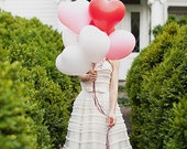 Valentine's Balloons Heart Balloons Red and White Balloons Heart Shaped Balloons Valentine's Day Balloons Latex Balloons Valentines Balloons