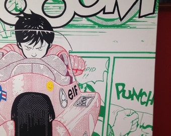 Kaneda from Akira hand drawn canvas