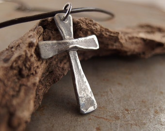 Sterling Silver Cross Jewelry Handmade Necklace for Men or Women