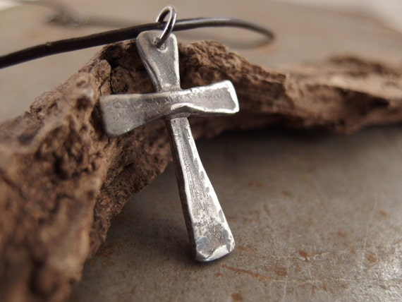 Sterling Silver Cross Jewelry Handmade Necklace For Men Or