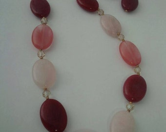 Cotton Candy Necklace and Earrings