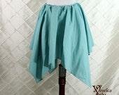 """Renaissance Faerie Seafoam Cotton Pixie Petal Skirt -- 4 Point, 23"""" Point Length -- Fits up to 32"""" Waist"""